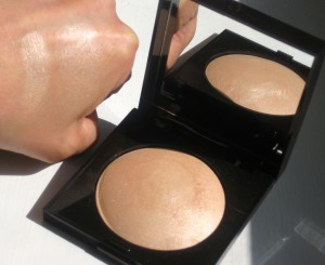 Laura Mercier Matte Radiance Baked Powder in Highlight 01 swatched heavily and blended out.