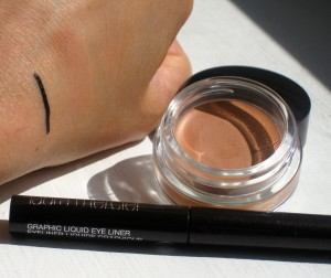 Laura Mercier Eye Canvas in EC-3, Graphic Liner in Black Lacquer.