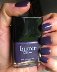 butter London Marrow in natural light.