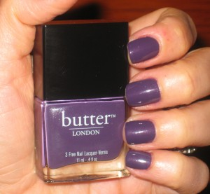 Butter London Nail Lacquer Marrow with flash.