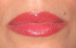 Three hours after application.  GA flash lacquer on top of Laura Mercier Mango lip Colour.