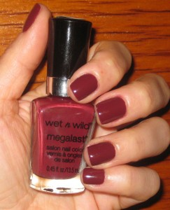 Wet n Wild Haze of Love 215B Megalast nail polish.