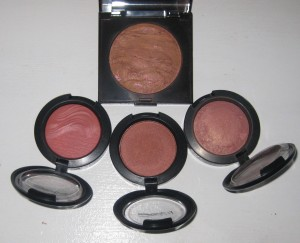 Comparison/Swatches: MAC Fiery Impact, MAC Sweet As Cocoa, MAC Warm Soul, Laura Mercier Ritual.