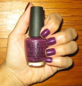 OPI Louvre Me Louvre Me Not swatch.