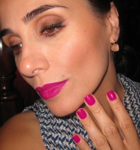 Lips: Daliia Runaway Fashion Fusion Lip Stain Nails: POP Beauty Violetta.
