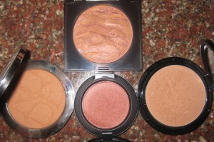 Laura Mercier Ritual, Edward Bess Daydream (on right), Dior Cinnamon (on left), MAC Sweet As Cocoa.