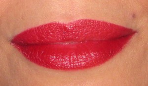 Daliia My Best Friend's Red Herbal lip stain swatch.