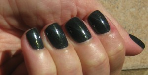 Laura Mercier Bewitched Nail Lacquer in sunlight.