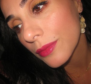 Chanel Esprit 88 Rouge Coco Shine lip swatch.