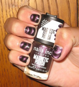 Nails Inc Magnetic Polish Houses of Parliament nail swatch.