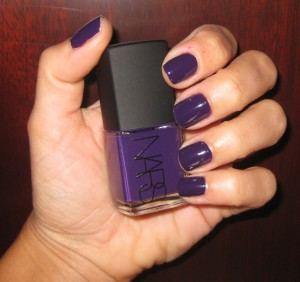 Nars Fury Nail Polish swatch.