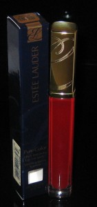 Estee Lauder Pure Color High Intensity Lip Lacquer in Ruby Glow.