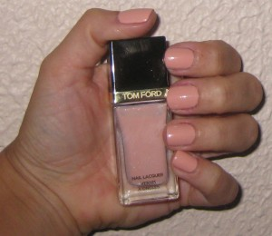 Tom Ford Show Me The Pink nail swatch.