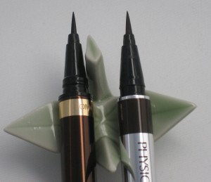 Comparison:  Tom Ford Eye Defining Pen longer brush head vs. Physician's Formula Eye Booster 2-in-1 Eyeliner.