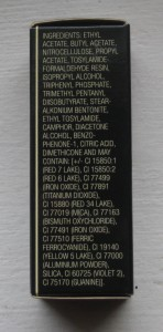Illamasqua Phallic Nail Lacquer ingredient list.