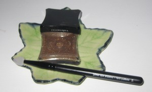 Illamasqua Ore Pigment with Sephora Glitter brush.