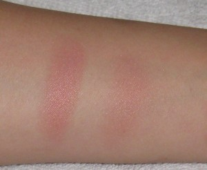Giorgio Armani Sheer Blush 10 Beige heavily swatched and blended out.