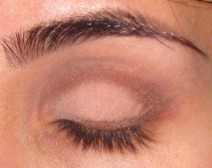 L'Oreal Bottomless Java applied heavily along the lash line and crease.