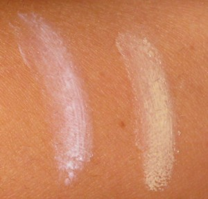 Hourglass Veil Mineral Primer vs. Koh Gen Do Makeup Color Base spread out.