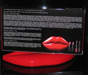 Nars Guy Bourdin Fling Lip Set content and ingredient list.