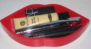 Nars Guy Bourdin Fling Lip Set red lip-shaped lacquered box.