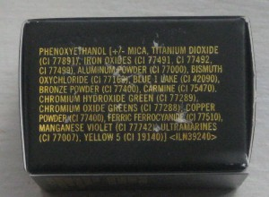 MAC Deliciously Rich Fluidline ingredient list (other side).