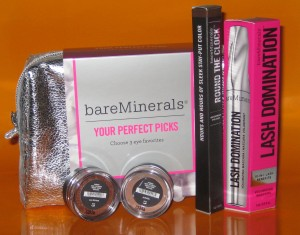 "bareMinerals ""Your Perfect Picks"" kit with Lash Domination."