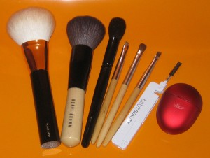 Tools of the Week: Tom Ford Bronzer Brush, Bobbi Brown Bronzer Brush, Wayne Goss brush 02, Billy B Brushes 11, 8 & 12, Billy B Brow comb, Slice pencil sharpener.