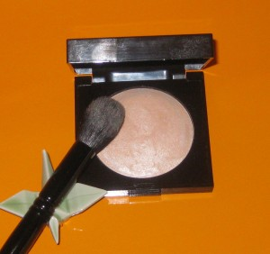 Wayne Goss Brush 02 with Laura Mercier Highlight 01.