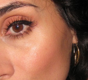 Used Wayne Goss Brush 02 to contour, apply bronzer, blush and setting powder under the eyes.