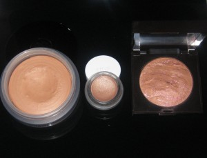 RMS Beauty Buriti Bronzer Comparisons L-R: Chanel Bronze Universal, RMS Beauty Buriti Bronzer, Laura Mercier Ritual Bronzer.