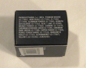 MAC Chilled Ingredient list (other side).