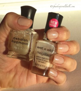 Nail of the Week: Wet-n-Wild 2% Milk with Deborah Lippman Bring on the Bling.