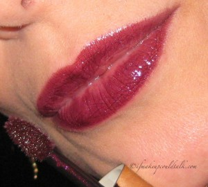 Lip Swatch Two Coats:  #502 Plum Adagio.
