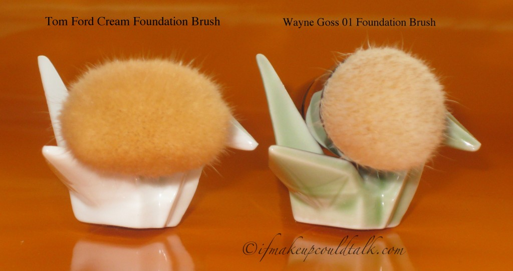 Tom Ford Cream Foundation Brush vs. Wayne Goss 01 Brush.