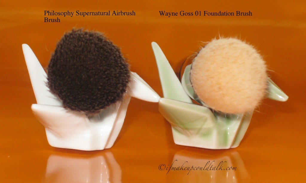 Philosophy Supernatural Airbrush Brush vs. Wayne Goss 01 Brush.