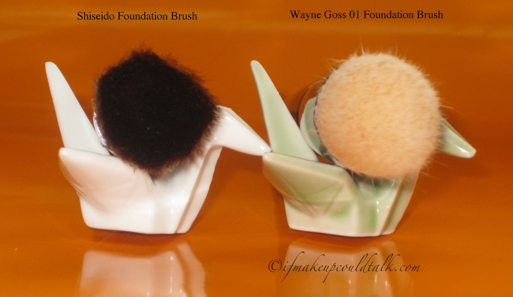 Shiseido Foundation Brush vs. Wayne Goss 01 Brush.