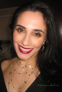 Date Night Look Lip Combo: Jordana Plush Plum and Estee Lauder Electric Wine.