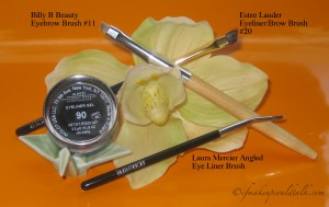 Brushes to use with Inglot Eyeliner Gel: Billy B Beauty Eyebrow Brush #11. Estee Lauder Eyeliner/Brow Brush #20. Laura Mercier Angled Eye Liner Brush.