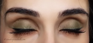 Final Look: Givenchy 6 Kaki Brocart Ombre Couture Cream Eyeshadow.