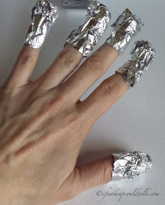Foil Method to remove Illamasqua Baptiste Nail Varnish.