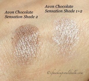 Avon Chocolate Sensation True Color Eyeshadow Quad Shade 2, Shade 1+2.
