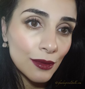 Lime Crime Wicked Velveteen with Shiseido Lacquer Rouge RD702.