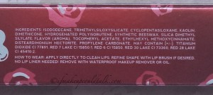 Lime Crime Wicked Velveteen new formula ingredient list.