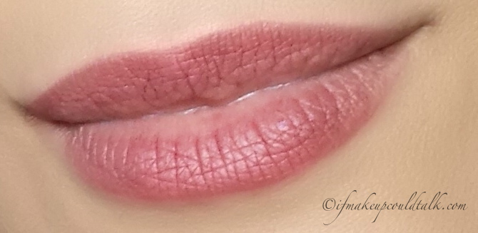 YSL 11 Prune Impertinente Baby Doll Kiss and Blush worn lightly as a lip color (after lunch).