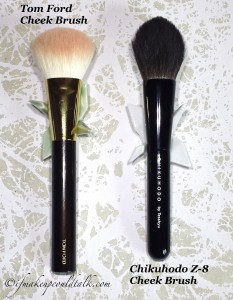 Tom Ford Cheek Brush and Chikuhodo Z-8 Cheek Brush.