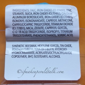 Chantecaille Lasting Eye Shade Iron Ore ingredient list.