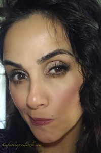 Makeup with Chantecaille Radiance Gel Bronzer.