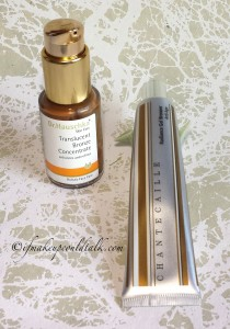 Comparison: Dr. Hauschka Translucent Bronze Concentrate, Chantecaille Radiance Gel Bronzer.