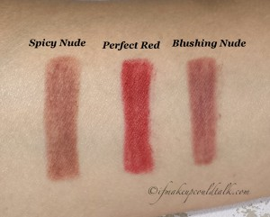 It Cosmetics Your Lips But Better Waterproof Lip Liner Stain in Spicy Nude, Perfect Red and Blushing Nude.